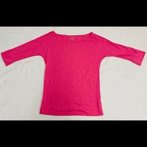 LILLY PULITZER HOT PINK COTTON TOP MEDIUM